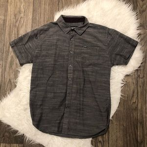 Zoo York Grey Short Sleeve Button up
